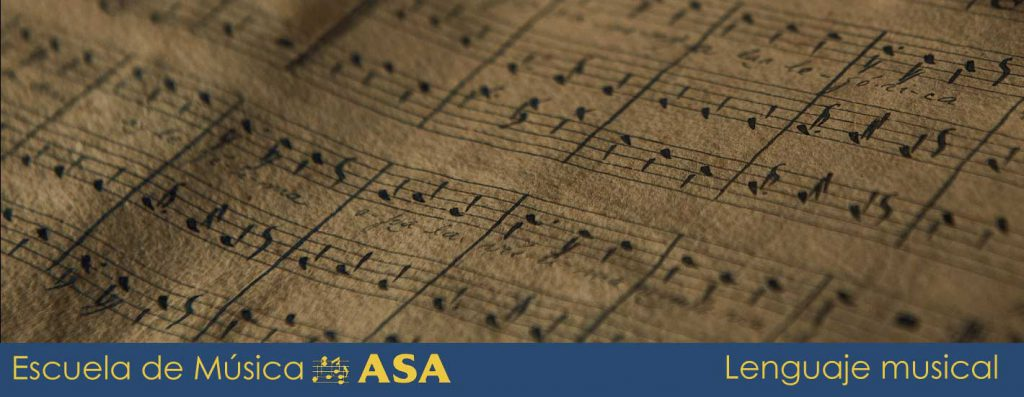 Imagen de partitura antigua para glosar las clases de lenguaje musical